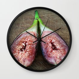 Fresh Fruit figues Wall Clock