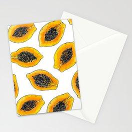 Papaya slices Stationery Cards