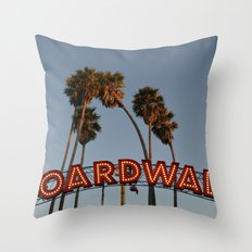 Vintage Boardwalk Sign Throw Pillow