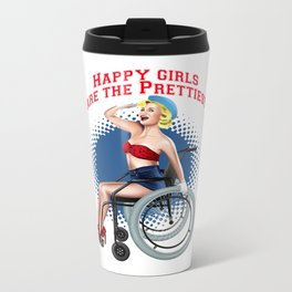 pin up happy Metal Travel Mug