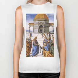 The Delivery of the Keys Painting by Perugino Sistine Chapel Biker Tank