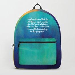 Romans 8:28, Encouraging Scripture Backpack