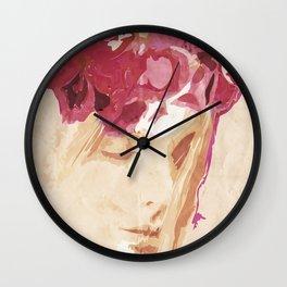 Flower portrait Wall Clock
