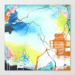 The Dreaming - Square Abstract Expressionism Canvas Print