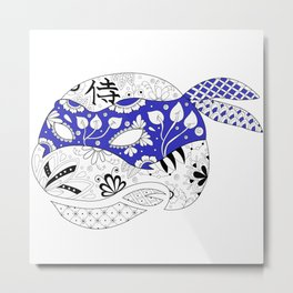 TMNT LEONARDO BLUE Metal Print