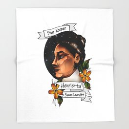 Henrietta Swan Leavitt Throw Blanket