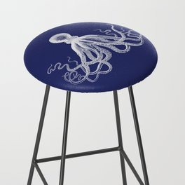 Octopus | Navy Blue and White Bar Stool