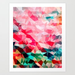 Polygon Pattern II Art Print