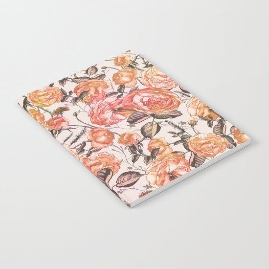 Vintage Floral Watercolor Pattern Notebook