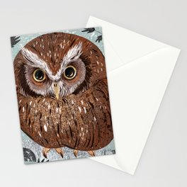 Painted Owl Stationery Cards