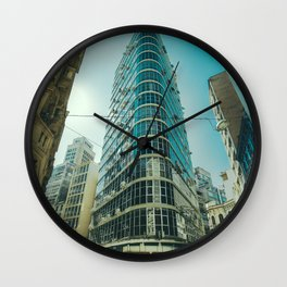 CITY - BUILDING - SQUARE - PHOTOGRAPHY Wall Clock