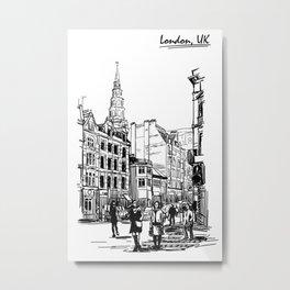 Sketch from London 02 Metal Print
