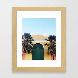 GREEN DOOR OF SAN JUAN Framed Art Print