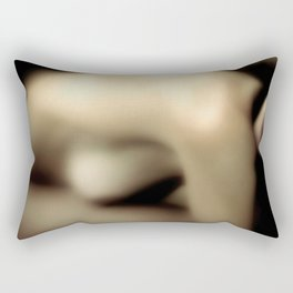 Artistic Vintage Topless Woman Bend Over Rectangular Pillow