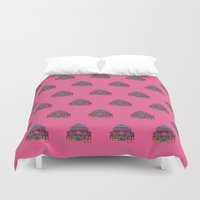 architecture Duvet Covers featuring architecture by PINT GRAPHICS