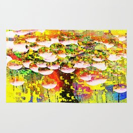 Abstract Bubble Tree Rug