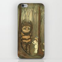 wild things iPhone & iPod Skins featuring Wild Things  by thepoppytree