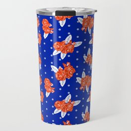 Florida fan gators university orange and blue team spirit football college sports florals Travel Mug