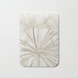 Dandelion Neutral Closeup Bath Mat