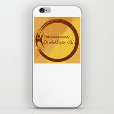 Harming None Do What You Will Color Background iPhone Skin