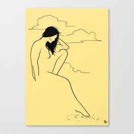 Woman by the water Canvas Print