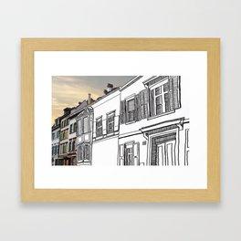 Strasse Pastiche  Framed Art Print