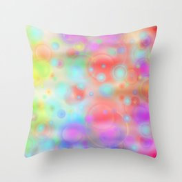Bubbles pastell Throw Pillow