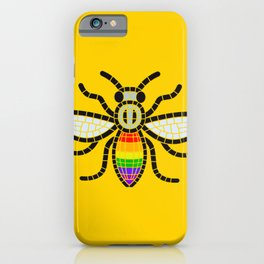 LGBT BEE MANCHESTER PRIDE GAY VILLAGE CANAL STREET iPhone Case