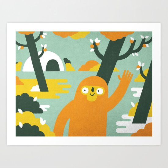 Mango Hunter Art Print