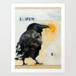 R is for Raven Art Print