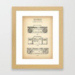 Boombox intage Framed Art Print