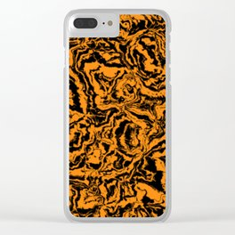 modern scramble, black and orange Clear iPhone Case