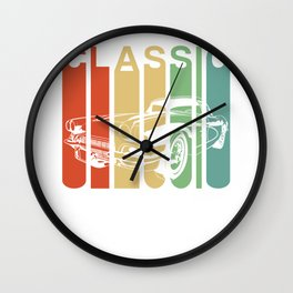 american muscle car wall clock