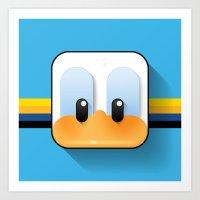 donald duck Art Prints featuring donald duck by designoMatt