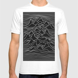 Black and white illustration - sound wave graphic T-shirt