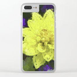 Dahlia Clear iPhone Case