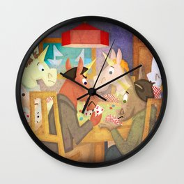 Poker Unicorn V02 Wall Clock