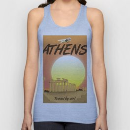 Athens travel by air! Unisex Tank Top