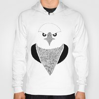 eagle Hoodies featuring Eagle by Art & Be
