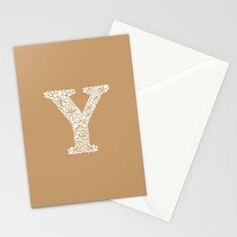 Floral Letter Y Stationery Cards