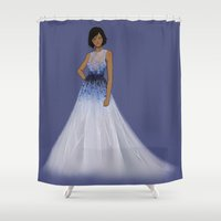 the legend of korra Shower Curtains featuring Korra by TrizhaMI