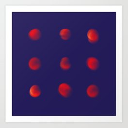Total eclipse of the polka dot Art Print