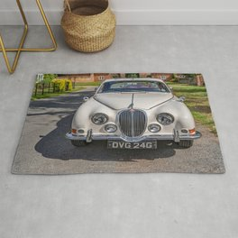 British built classic car Rug