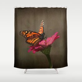 Prefect Landing - Monarch Butterfly Shower Curtain