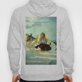 Beautiful mermaid with jumping dolphin Hoody