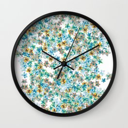 Little Flowers For You Wall Clock