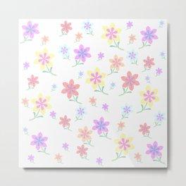 Watercolor Flower Garden Metal Print