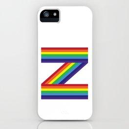 Rainbow Monogram - Letter Z iPhone Case