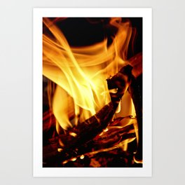 Willing to Burn Art Print