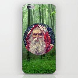 Christmas Card (Santa Woods) iPhone Skin